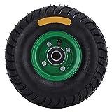 Carrello portautensili, 10.5in 4.10/3.50-4 Pneumatico gonfiabile 6204-2RS incorporato in acciaio per cuscinetti e gomma per ruota angolare