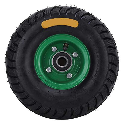 10,5 Zoll 4,10/3,50-4 Reifenräder, 6204-2RS Lager Gummi Aufblasbarer Werkzeugwagen Reifenrad, Gummi-Handwagenrad