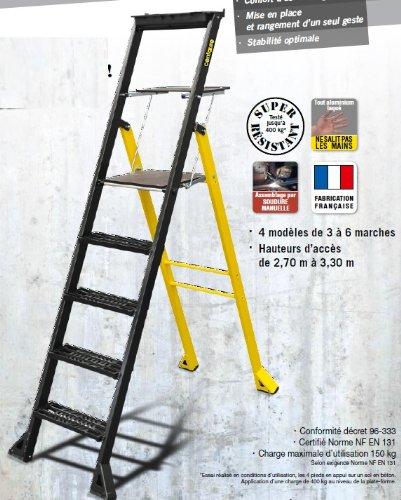 Escabeau ALU CENTAURE 5 Marches MISTER T NF EN 131 - 447205
