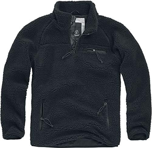 Brandit Teedy Fleece Troyer Sweatshirt schwarz L