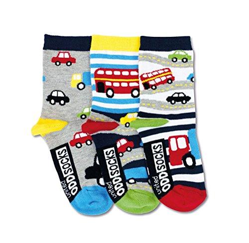United Oddsocks Cars - Jungen Socken - Autos - Gr. 27-30