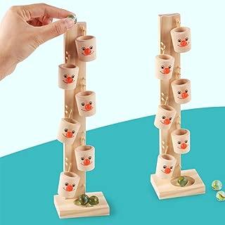 khkadiwb ToysRepair Tool Puzzles & Magic Cubes Baby Montessori Wooden Blocks Tree Marble Ball Run Track Game Children Toy Gift Non-Toxic Intelligent Development Gift