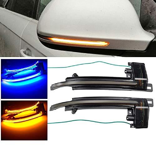 Luz de señal de giro dinámica, accesorios de coche, espejo retrovisor LED,...