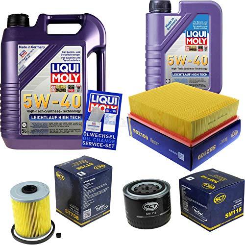 QR-Parts Set 85482720 ST 758 3863 3864 SB 2109 SM 118 6L Liqui Moly High Tech 5W-40 + paquete de filtros SCT-Germany 11236824