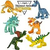 BigNoseDeer 4 Pulgadas Figuras de Dinosaurio de Dibujos Animados con Animales de...
