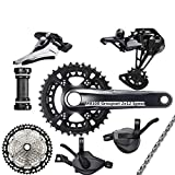TSAUTOP Newest DEO-RE XT M8100 GROUPSET 24 Speed 26-36T 170 175mm Crankset Mountain Bike Groupset 2x12-Speed 45T 10-51T M8100 para SHI-MA-NO (Color : 26 36T 175MM 10 51T)