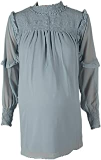 M4M Fashion Maternity Blouses For Women - Dark Gray - Medium