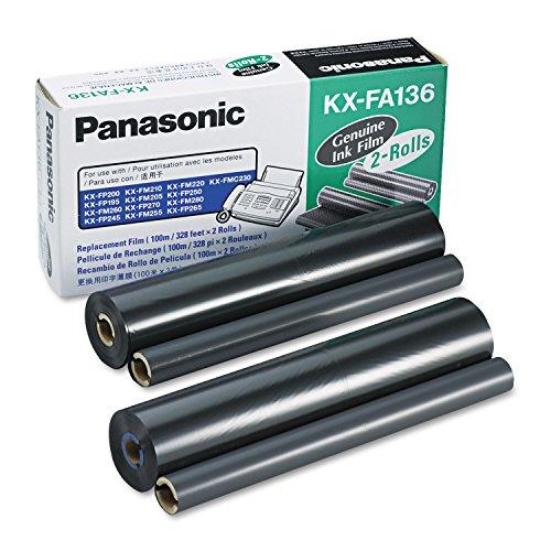Panasonic KX-FA136 Black Imaging Film Refills, Pack of 2