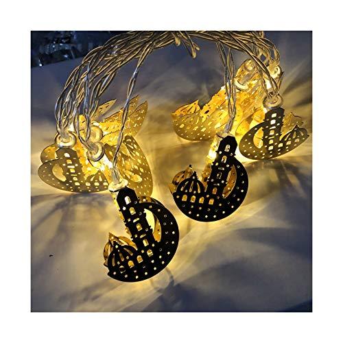 Huaduo Guirnaldas de luces LED, musulmanas, farolillos LED Eid Mubarak, decoración bonita Ramadán, decoración para familias, fiestas de interior, dormitorio, decoración de cumpleaños