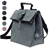 Thermal Insulated Lunch Bag - Reusable Leakproof Cooler for Men, Women and Kids - Adjustable Shoulder Strap for Outdoor Activities, Work or School