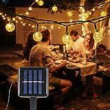 Solar Lichterkette Aussen, Tomshine 50er Solar Lichterkette Außen mit LED Kugel, Wasserdicht Warmweiß 5.6 Meter, Solarbetriebene Lichterkette für Garten Party Weihnachten
