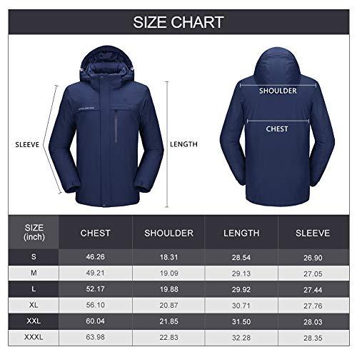 517tnfHA5QL. SS500  - CAMEL CROWN Men's Mountain Snow Waterproof Ski Jacket Detachable Hood Windproof Fleece Parka Rain Jacket Winter Coat