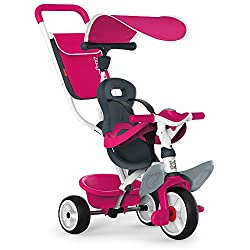 This stylish and smart trike with parent handle is designed with your comfort and ease-of-use in mind. The smooth, intuitive steering system allows you to navigate easily and smoothly using only minimal pressure for turning. There is a handy, removab...