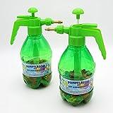 Wasserbomben Pumpe mit 300 Wasserballons Füller Füllhilfe Pump-Sprühflasche Pumpflasche 2er Set -