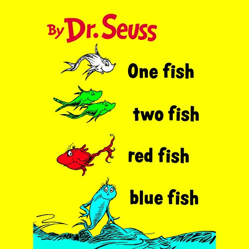 Page de couverture de One Fish Two Fish Red Fish Blue Fish