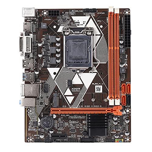 Newwiee Fit for B85 LGA 1150 I3 I5 I7 Placa Base de Servidor de Placa Base de computadora M-ATX DDR3 USB 3.0 SATA 3.0 Compatible con HDMI + DVI + VGA Placa Base de Escritorio
