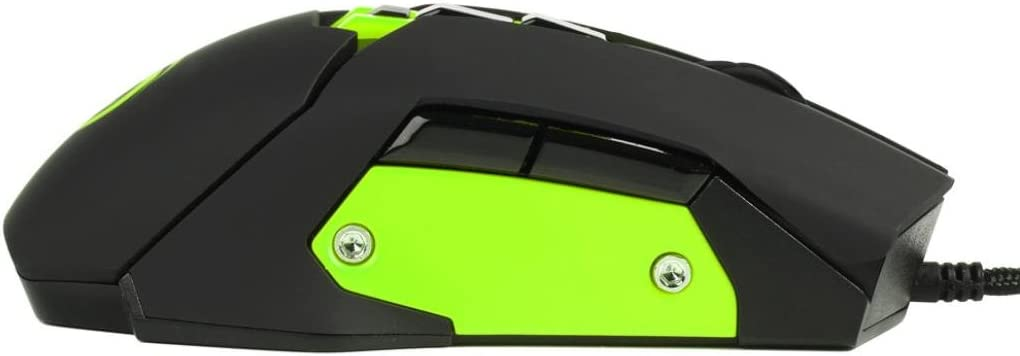 Cool Glowing Mouse,Efaster Nine key Design Game Mouse Left and Right Hand The Same feel Green
