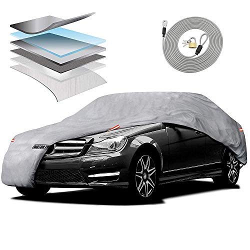 Motor Trend M5-CC-3 L (7-Series Defender Pro-Waterproof Car Cover for All Weather-Snow, Wind, Rain &...