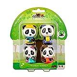 Vulli - Klorofil - 4 Figurines Famille Panda