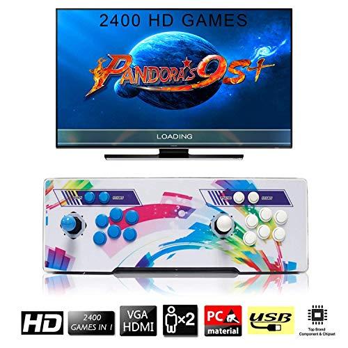 [2400 Giochi Classici] Arcade Game Console, SeeKool Pandoras Box 9s+ Joystick 2 giocatori Arcade Console, 1280*720 Full HD, Pulsante personalizzato, supporto PS3, alimentazione HDMI e VGA e uscita USB