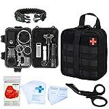 GRULLIN Kit de Supervivencia 44 en 1 Equipo de Supervivencia de Primeros Auxilios de Emergencia Kit de Herramientas de Bolsa IFAK, Oficina en el hogar Coche Senderismo Caza Camping Aventura