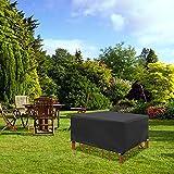Fundas para Muebles de Patio Impermeables, duraderas, Resistentes al Agua, Fundas para Muebles de Interior para Exteriores, para mesas y sillas de Bistro al Aire Libre, 220x150x100cm, Negro