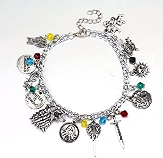GAME OF THRONES Silvertone Assorted Themed Charm BRACELET