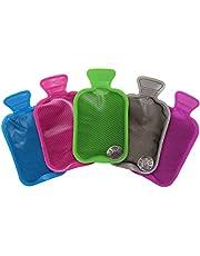 5 Mini Botellas de Agua Caliente, Calentadores de Manos - Reutilizable y Portátil - Clic para Calor Instantáneo En Cualquier Momento, En Cualquier Sitio| Guantes Bolsillo| Viajes Camping Senderismo.