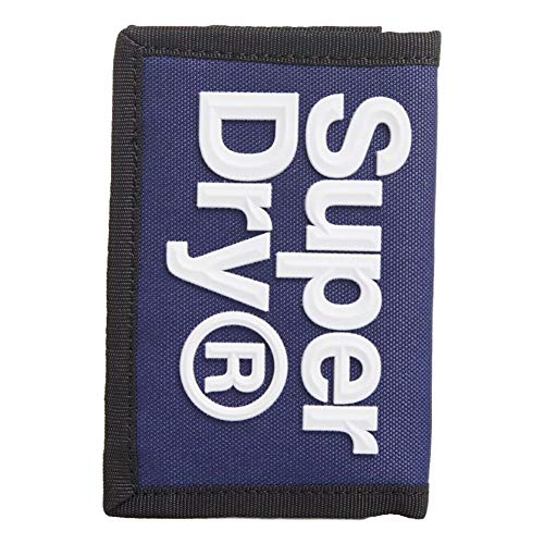 Superdry Velcro Logo Wallet - Downhill Blau