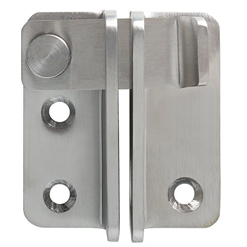Alise Flip Latch 3-mm Thickened Heavy Duty Hasp Safety Door Lock Gate Latches for Double Door Window Barn Closet Drawer Cabinet Garage,Stainless Steel Brushed Nickel
