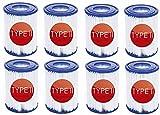 KHDFID Cartuchos de filtro para Bestway 58094 tamaño II, filtro de piscina tipo II, reutilizables, cartuchos para piscina para piscina familiar, accesorios de filtro de limpieza (8 unidades)
