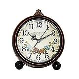 zxb-shop Reloj de Mesa Retro Pastoral Europeo Reloj Creativo Salón Decoración Metal Mesa Reloj Analógico Gran Reloj de Mesa Digital Reloj de Escritorio (Color : C)