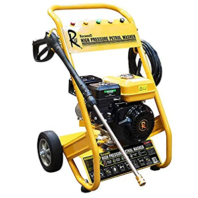 RocwooD Petrol Pressure Washer 3000 PSI 7HP 10 Litre High Power Jet FREE Oil from Rocwood