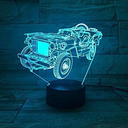 3D Pokemon Nachtlichtlampe Optische Nachtlichtillusion mit Fernbedienung 16 Farbwechsel Nachttischlampe mit USB Perfekte Geschenke für Kinderautos
