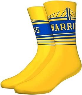 Golden State Warriors Horizon Crew Socks Size Large 6-12 Mens