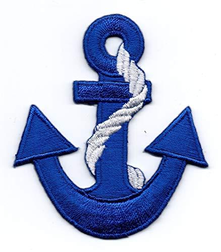 Anker Blau - Aufnäher Bügelbild Stickbild Abzeichen Iron pn Patch