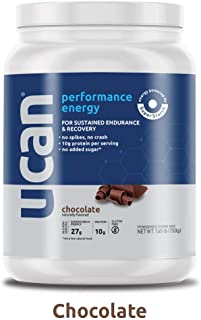 UCAN Performance Energy Plus Protein Powder with SuperStarch – Gluten Free, No Added Sugar, Doesn't Spike Blood Sugar or Insulin – Maximum Energy and Muscle Recovery, No Crash, Chocolate, 15 Servings