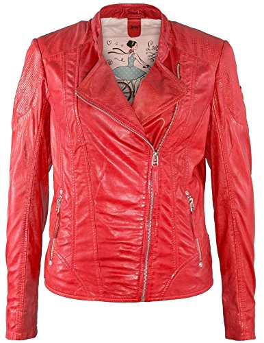 Gipsy by Mauritius Damen Lederjacke Sugar LASV (M, Poppy red)