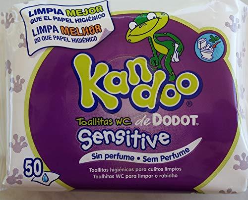 Toallitas WC Kandoo Sensitive 50 uds./ Sin Perfume
