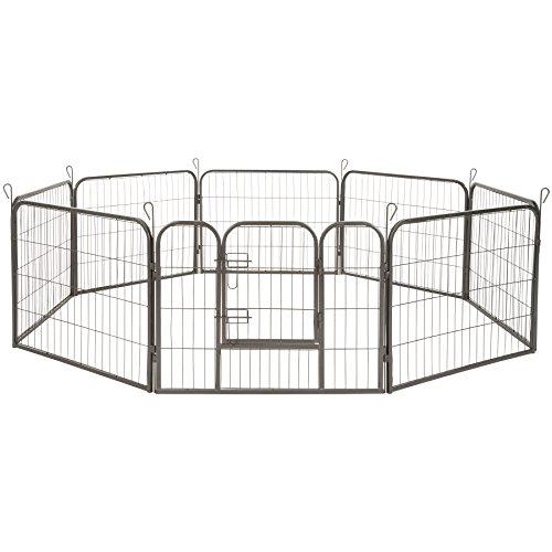 TecTake Parque para Mascotas Valla Libre Corriendo Jaula para Animales - Varios Modelos - (Altura de 60cm | no. 402502)