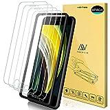 ANEWSIR 4X Compatibile con iPhone SE 2020 Vetro Temperato, 9H Durezza Ultra Resistente Anti-Graffo/Olio/Impronta HD Chiaro Screen Protector Compatibile con iPhone SE 2020/8 /7/6 /6S (4.7')