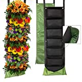 Vertical Garden Planter with 7 Pockets, New Layout Waterproof Windproof and Anti-Drying, Hanging Wall Planters