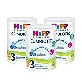 Hipp Biologique Lait 3 Combiotic Croissance 800 g - Lot de 3