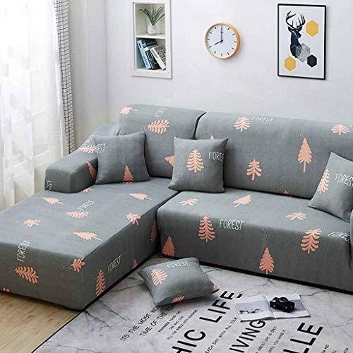 1 2 3 4 Seater Stretch Sofa Slipcovers Universeller L-Form Sofa slipcover Tierschutz mit Sponge Sticks (Color : Color 4, Size : AA/BB-3 seat(190-230CM))