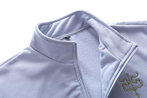 Asali Men's Slim Fit Jogging Baseball Sweat Suits Casual Tracksuits Dark Blue L