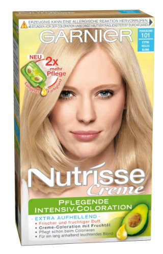 Garnier Nutrisse Creme Pflegende Intensiv-Coloration 101 Pearl Blond, 1er Pack
