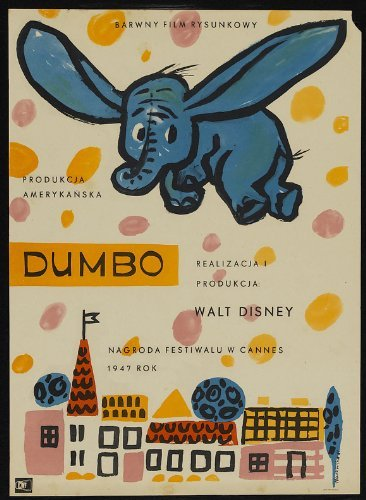 MG Poster Dumbo Movie Poster (11 x 17 Inches - 28cm x 44cm) (1941) Polish...