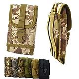 ikracase Outdoor Hülle für Caterpillar CAT S31 Smartphone Gürteltasche Schutz-Hülle Tasche Hülle Cover Holster in Camouflage 2