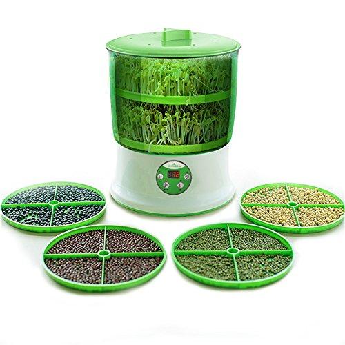 もやし栽培機 BelleLife もやし栽培マシン 2層大容量 もやし栽培キット 水耕栽培器 もやし育成マシン 自宅もやし栽培 もやし家庭菜園 スプラウト栽培 水耕栽培キット自宅もやし栽培 もやし 実用 超便利 健康的な生活様式