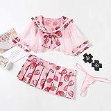 Mignon Sailor Lolita Cosplay Strawberry Imprimé école Costume Uniforme Fille Sexy Kawaii...